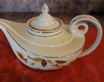 Jewel Tea Autumn Leaf Aladdin Teapot & Lid w/Infuser