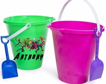 Avengers Personalized Sand Beach Bucket, Avengers Sand Pail, Sand Bucket