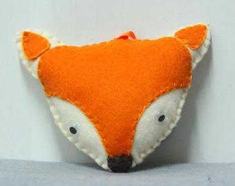 Fox head key or deco purse made of felt
