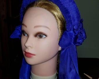 Instructions for making a pleated Civil War era headdress