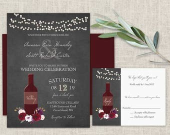 Winery invitations | Etsy