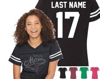 Rhinestone Twirler Mom Shirt - Twirler Shirts for Moms - Mom Twirler Shirt T-shirts/Tank Tops/Jerseys - Twirler Shirt