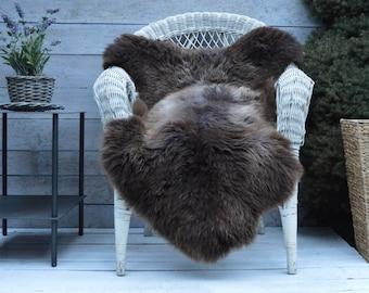 Unique No.725 Luxury Sheepskin Rug, Throw, Blanket, Very Rare Breed Multi - Size XL