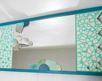 "Mirror mosaic ""Flying teapot""100 X 50 cm"
