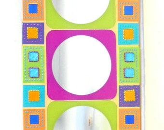 "mirror mosaic colors ""square and round vibrant"" 60 x 31 cm"