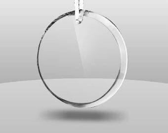 "3 3/4"" Personalized Acrylic Circle Ornament ~ Free custom engraving"