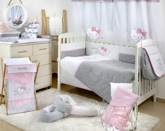 Hello Kitty Stars Crib Bedding Set