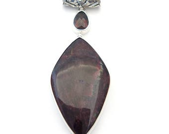 Eudialyte and Garnet Pendant