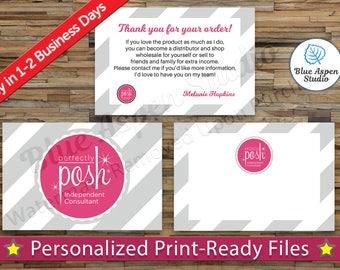 perfectly posh business cards printable digital printed. Black Bedroom Furniture Sets. Home Design Ideas