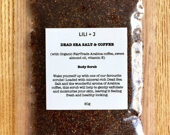Dead Sea Salt & Organic Coffee Scrub (80g)