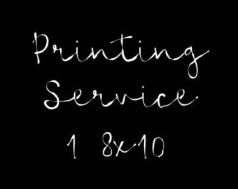 Printing Service for One 8x10 Wall Print