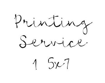 Printing Service for One 5x7 Wall Print