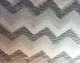 grey DEARSTELLADESIGN HERRINGBONE patchwork fabric