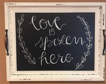 Love is Spoken here sign