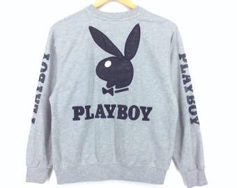 Vintage Playboy Big Logo Sweatshirt Medium Size/ Playboy Bunny/ Playboy Shirt/ Playboy Jacket/ Hip Hop Swag