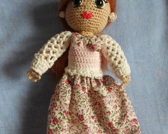 Amelia, little Princess summer, wearing her pretty flower Crown