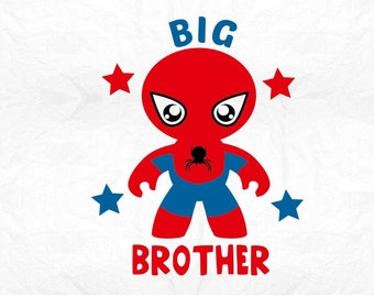 big brother superhero SVG Clipart Cut Files Silhouette Cameo Svg for Cricut and Vinyl File cutting Digital cuts file DXF Png Pdf Eps vector