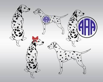 Dalmatian dog svg, Dalmatian svg, dog svg, Dog Breeds svg, Dalmation svg, Monogram svg, Cricut, Cameo, Clipart, Svg, DXF, Png, Pdf, Eps