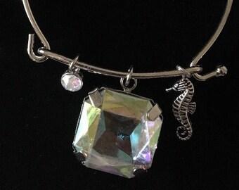 Silver seahorse bracelet