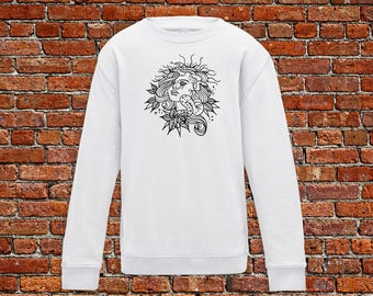 Medusa sweater, medusa tattoo, evil eye sweater, tattoo sweater, classic tattoo art, old school sweater, hipster gift, gift for tattoo lover