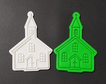 Classic Church Cookie Cutter and Stamp