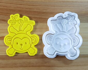 Monkey on the tree Cookie Cutter and Stamp