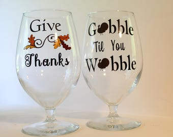Thanksgiving Water Glasses