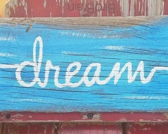 Dream Arrow Rustic Barnwood Sign