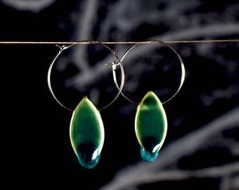 """Ceramic earrings """"darkseagreen"""""""