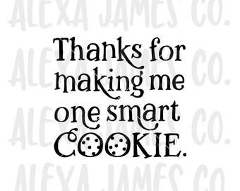 One smart cookie svg, Teacher potholder SVG, Best teacher svg, Teacher Thank You, Cricut, Silhouette, svg png pdf