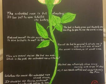 The Unbudded Rose Painting and Poem