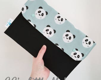 Pandas nappy clutch bag, Purse, baby accessories bag, changing bag, new mum gift, baby shower gift, mum-to-be gift, nappy wallet