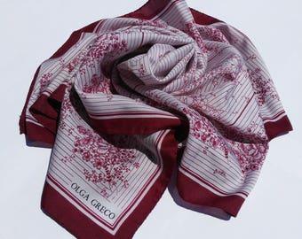 Vintage Olga Greco scarf