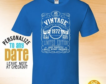 Vintage since 1972, 46th birthday gifts for Men, 46th birthday gift, 46th birthday tshirt, gift for 46th Birthday ,