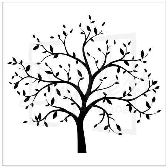 Clever image inside printable tree stencils