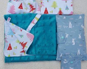 Set handbag Portapanollini, cover and pacifier Bag/baby Set