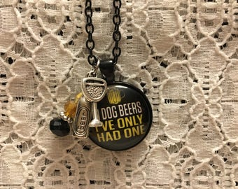 Funny Beer Charm Necklace/Beer Charm Necklace