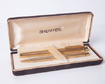 Vintage Office Rare Sheaffer Pen Set 2 Pce Box Set