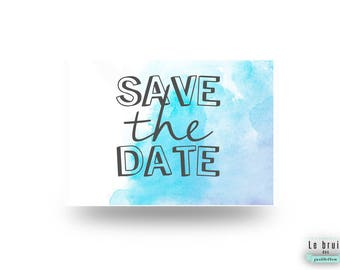 Save the date watercolor / aquarelle fun et décalé