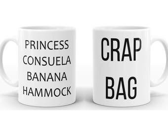 Crap Bag & Princess Consuela Banana Hammock Mug, Gift for Couple, F.R.I.E.N.D.S TV Show Mug P3