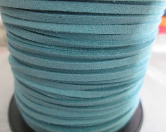 1 meter of 3 mm turquoise suede cord