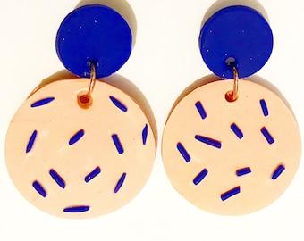 Big Fun Earrings - Peach