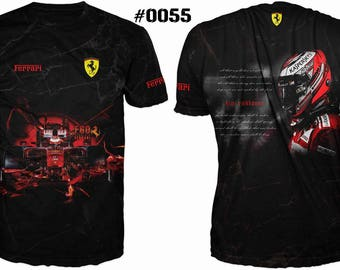 New Ultramodern 3D High Quality Formula 1 Ferrari Kimi Raikkonen Mens  T-shirt
