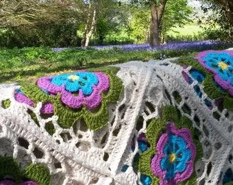 Lacy Crochet Blanket