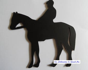Rider stationary, wooden wall decoration
