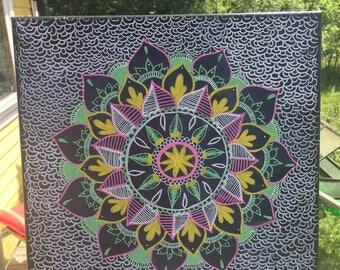 Mandala painting 30x30cm