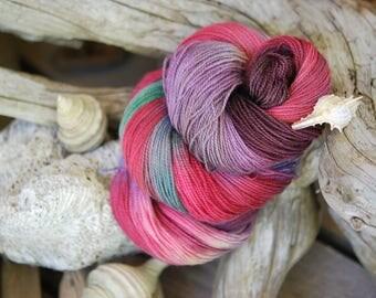 Hand Dyed Sock Yarn - Rose Hip Tea