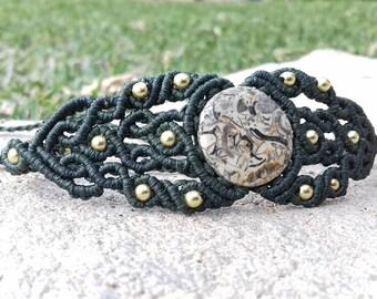 Macrame fossil Stone Bracelet