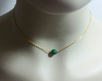 Malachite Layering Necklace,Unique Gemstone Choker,Malachite Choker,Unique Malachite Necklace,Dainty Malachite Choker, Malachite Chokeroker