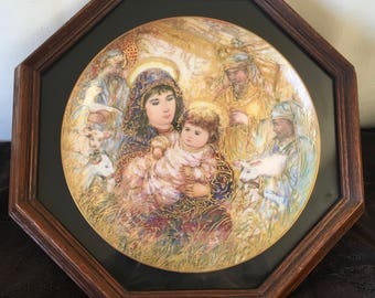 EDNA HIBEL Framed collectors plate